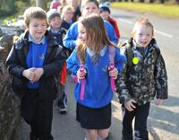 Walking to school helps reduce stress in children
