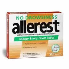 Allerest No Drowsiness (Acetaminophen Pseudoephedrine)