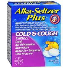 Alka-Seltzer Plus Cold and Cough (Chlorpheniramine/Dextromethorp/Phenylephrine)