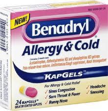 Benadryl Allergy & Cold (Apap/Diphenhydramine/Phenylephrine)