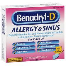 Benadryl Allergy Sinus (Diphenhydr Amine Pseudoephedrine)